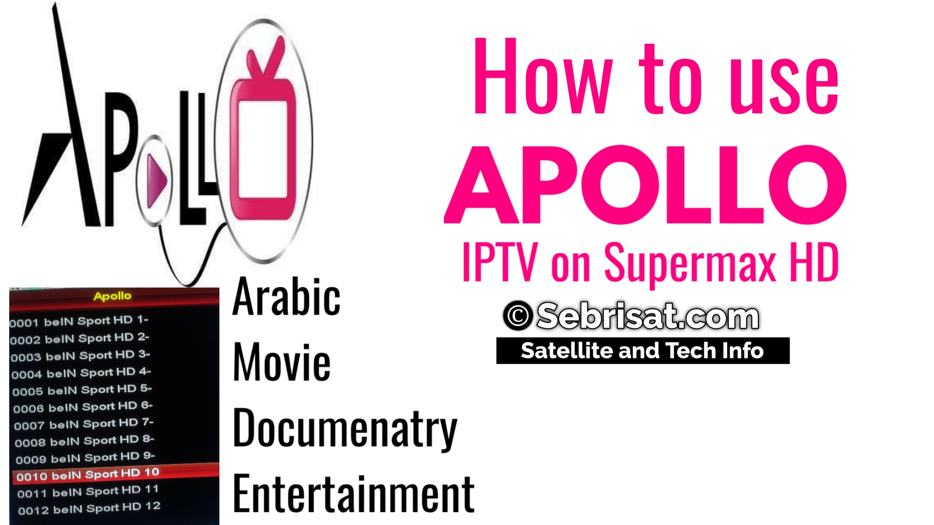 How to use IPTV ON SUPERMAX | Sebrisat Satellite and Tech center